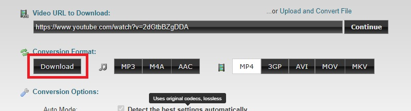 download portion youtoube clipconverter step3