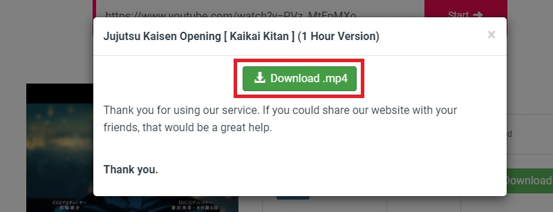 download youtube y2mate step3